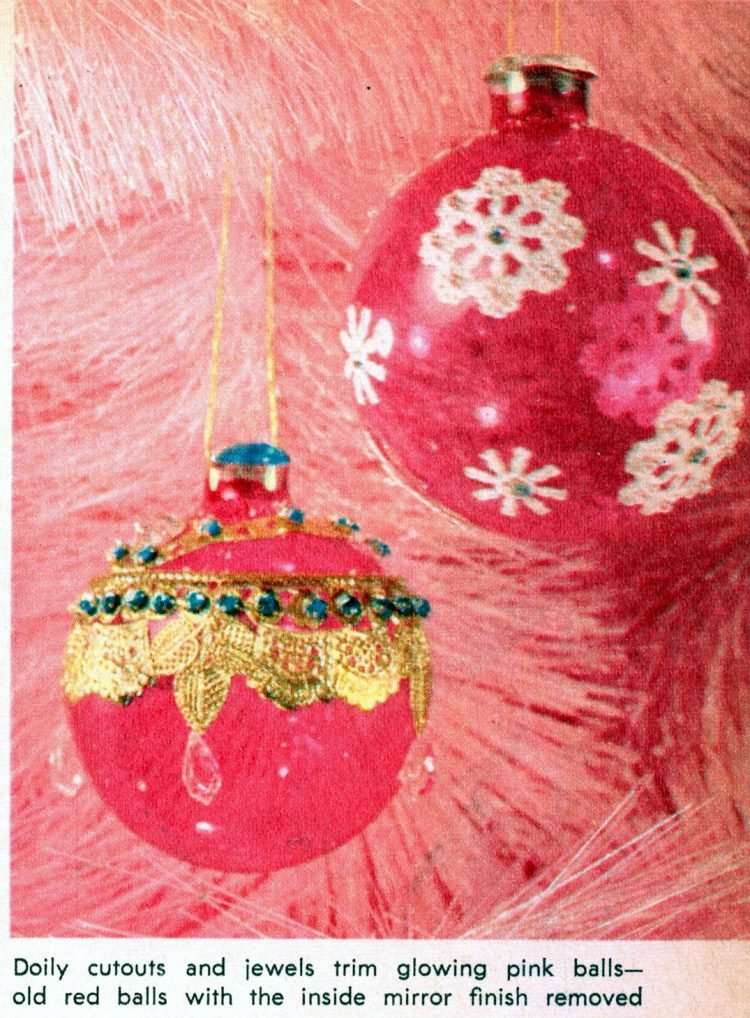 Retro Christmas ornament crafts from 1964 (6)
