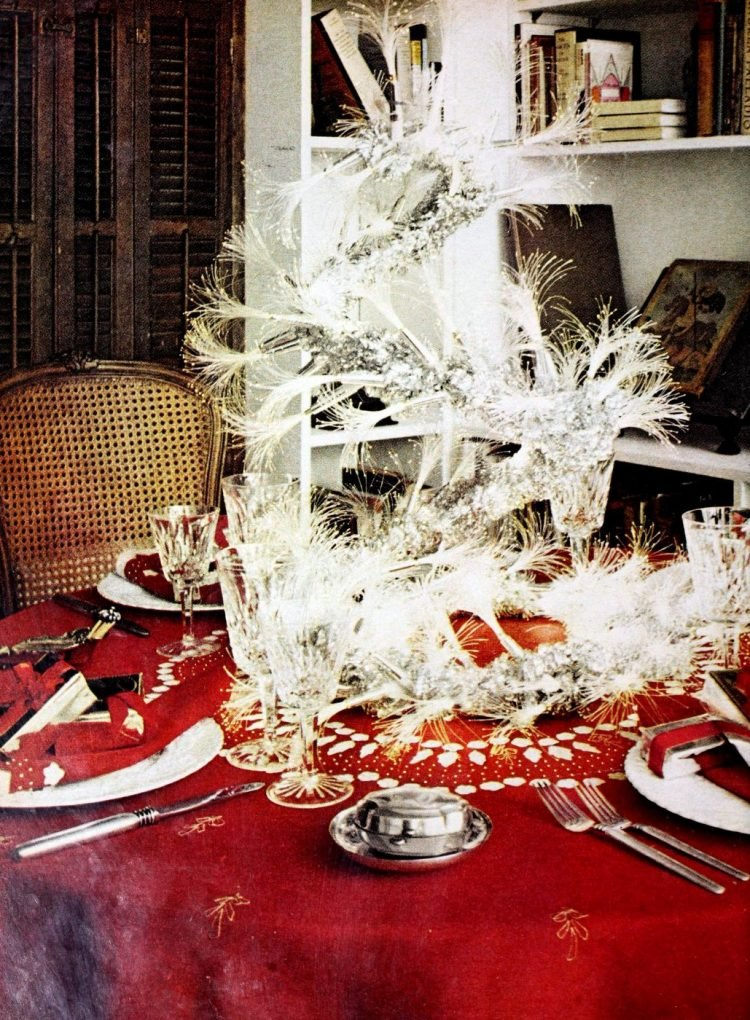 Retro Christmas table setting from 1970