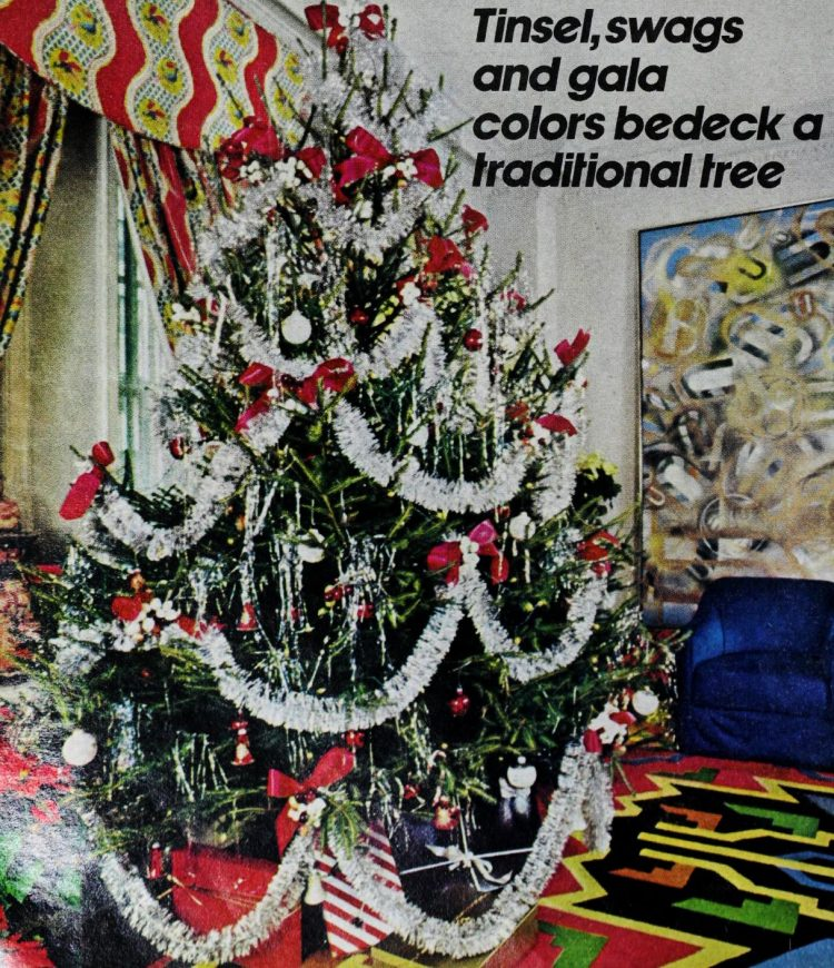 Retro Christmas trees from 1975 (1)