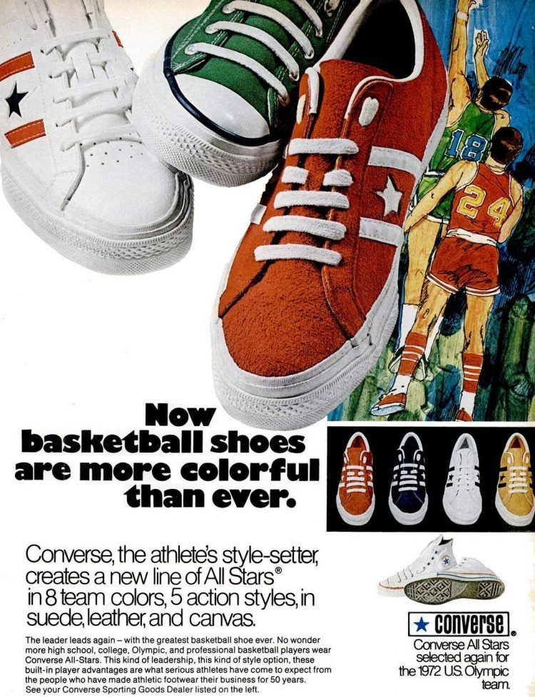 Retro Converse basketball shoes from 1971