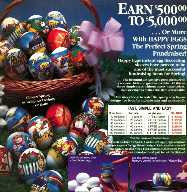 Retro Easter egg decorating kit from 1991