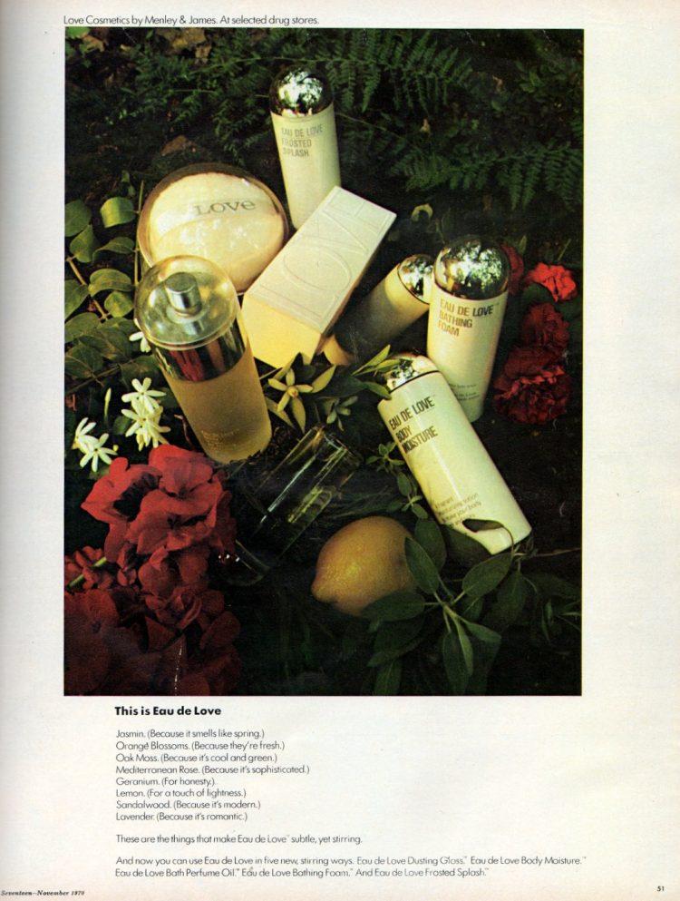 Retro Eau de Love fragrance gift set 1970