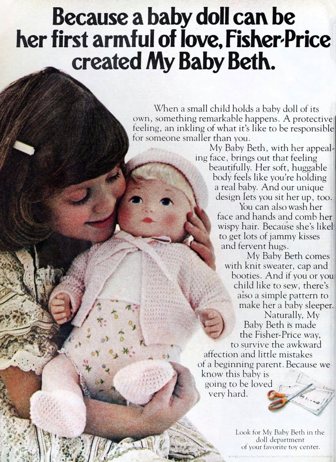 Retro Fisher-Price My Baby Beth doll (1978)