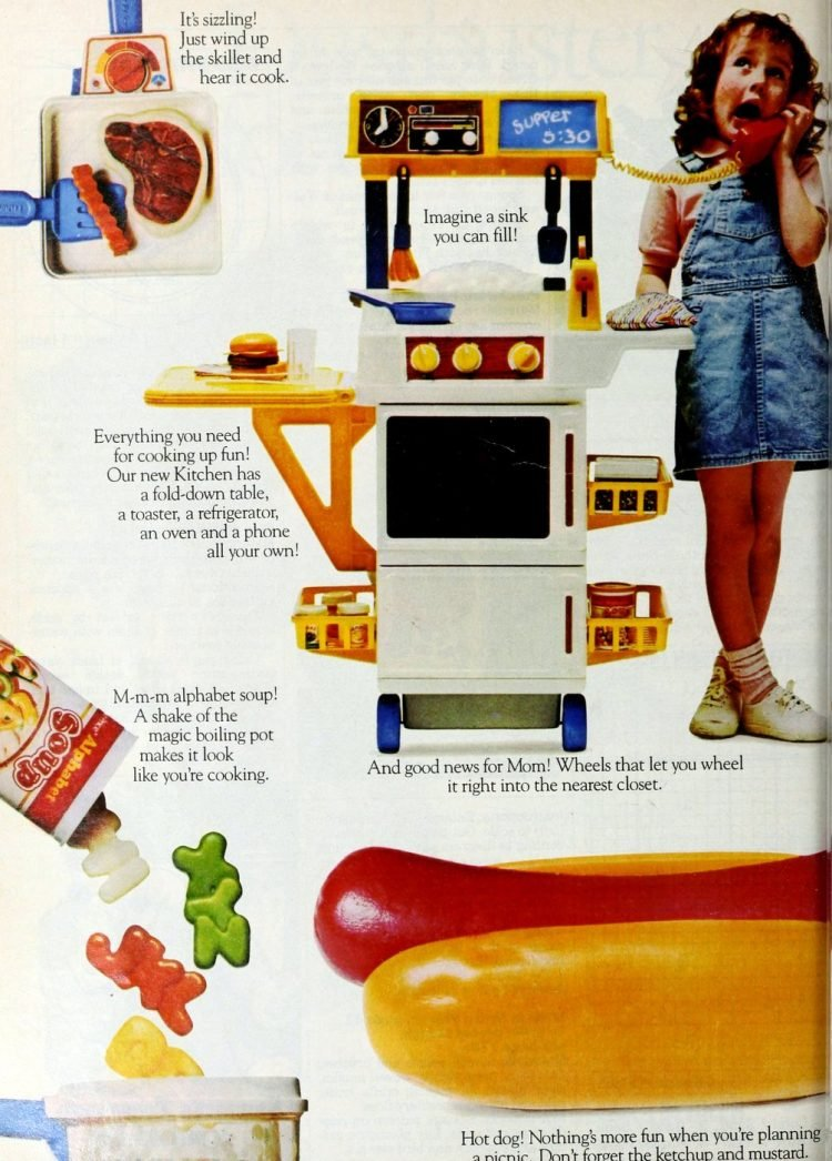 Retro Fisher Price play kitchen appliances and toys from 1987 (2)