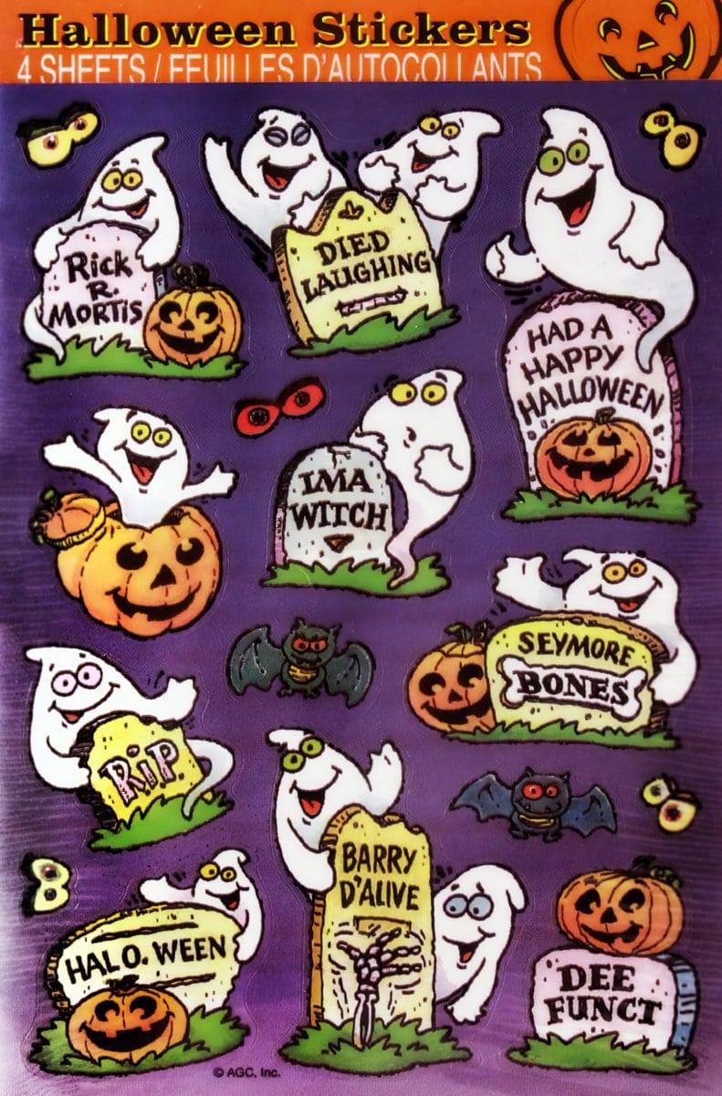 Retro Halloween stickers - Sticker sheets 1980s