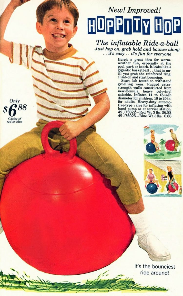 Retro Hoppity Hop bouncing toy from the 60s and 70s