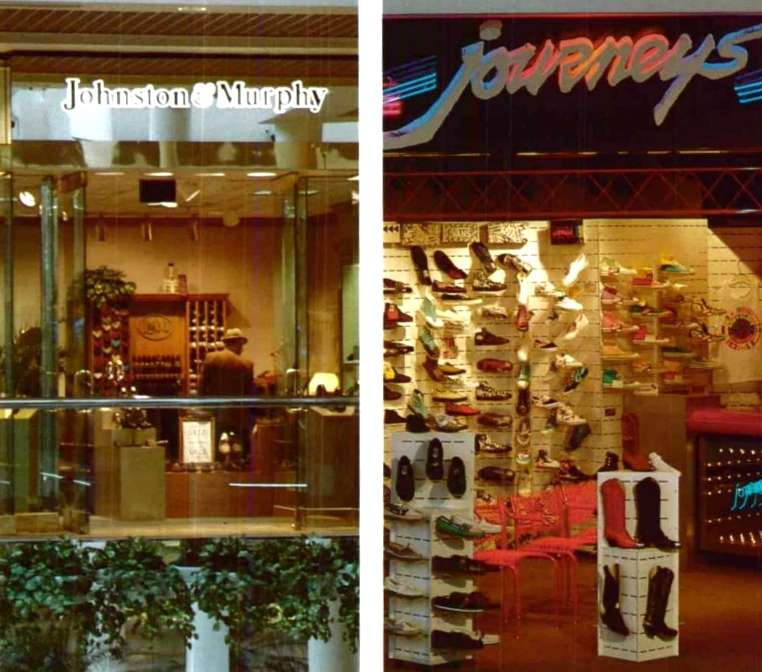 Retro Johnson and Murphy store and Journeys shop (1988)