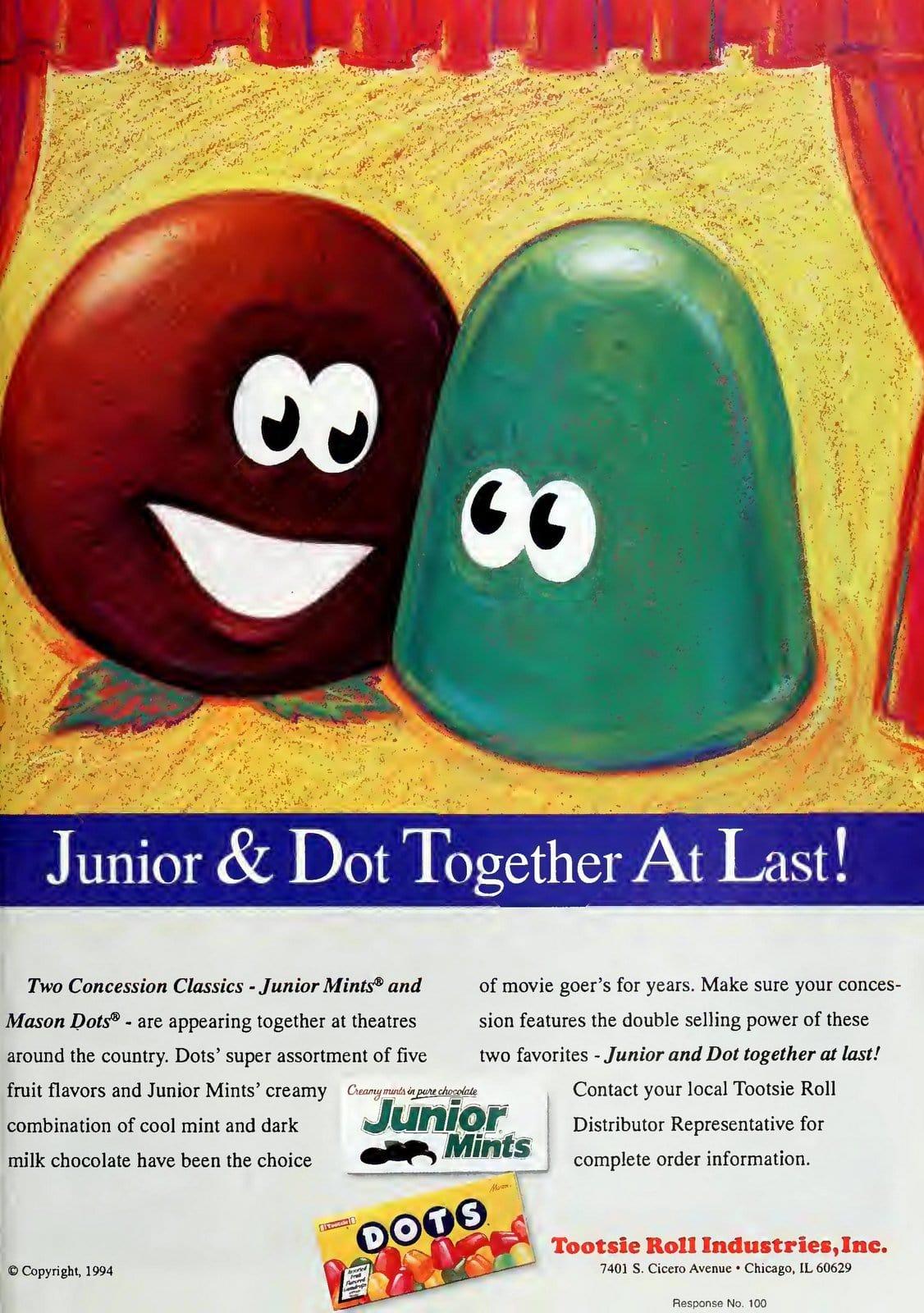 Retro Junior Mints and Dots candies (1997)