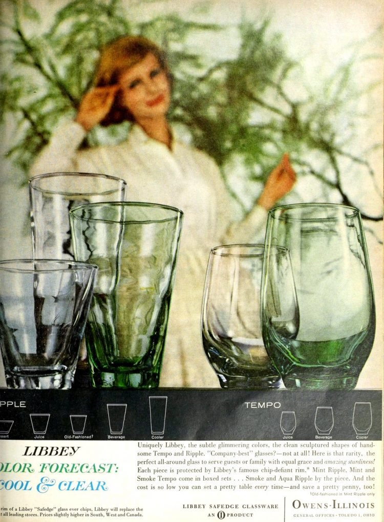 Retro Libbey glasses from 1961