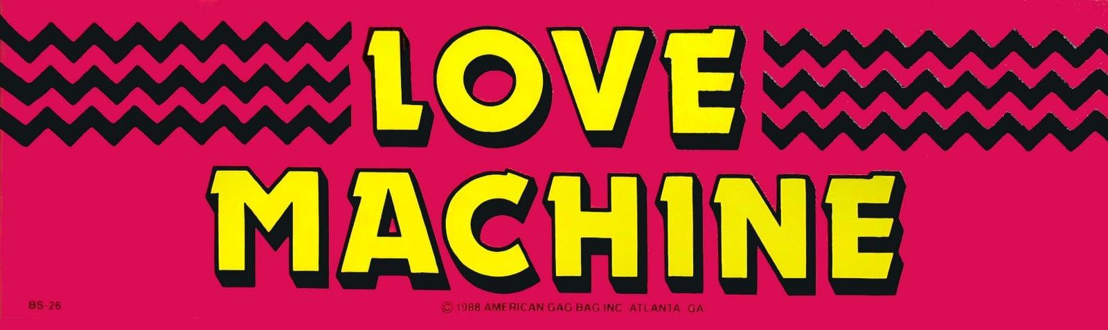 Retro Love Machine bumper sticker (1988)