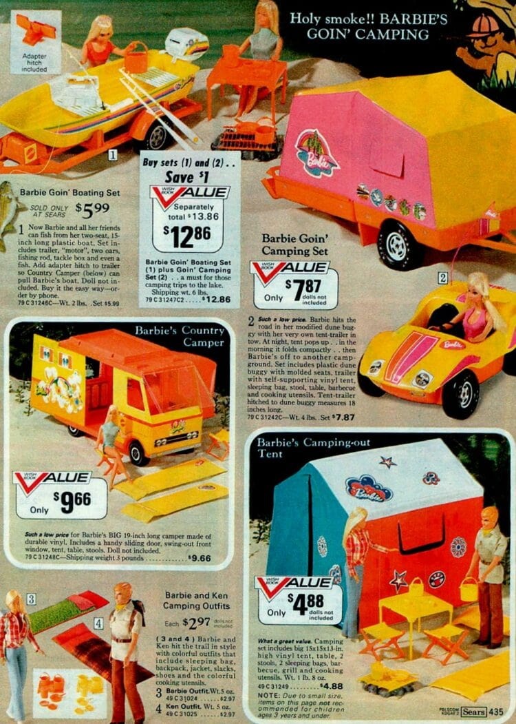 Retro Malibu Barbie vintage catalog pages from 1973