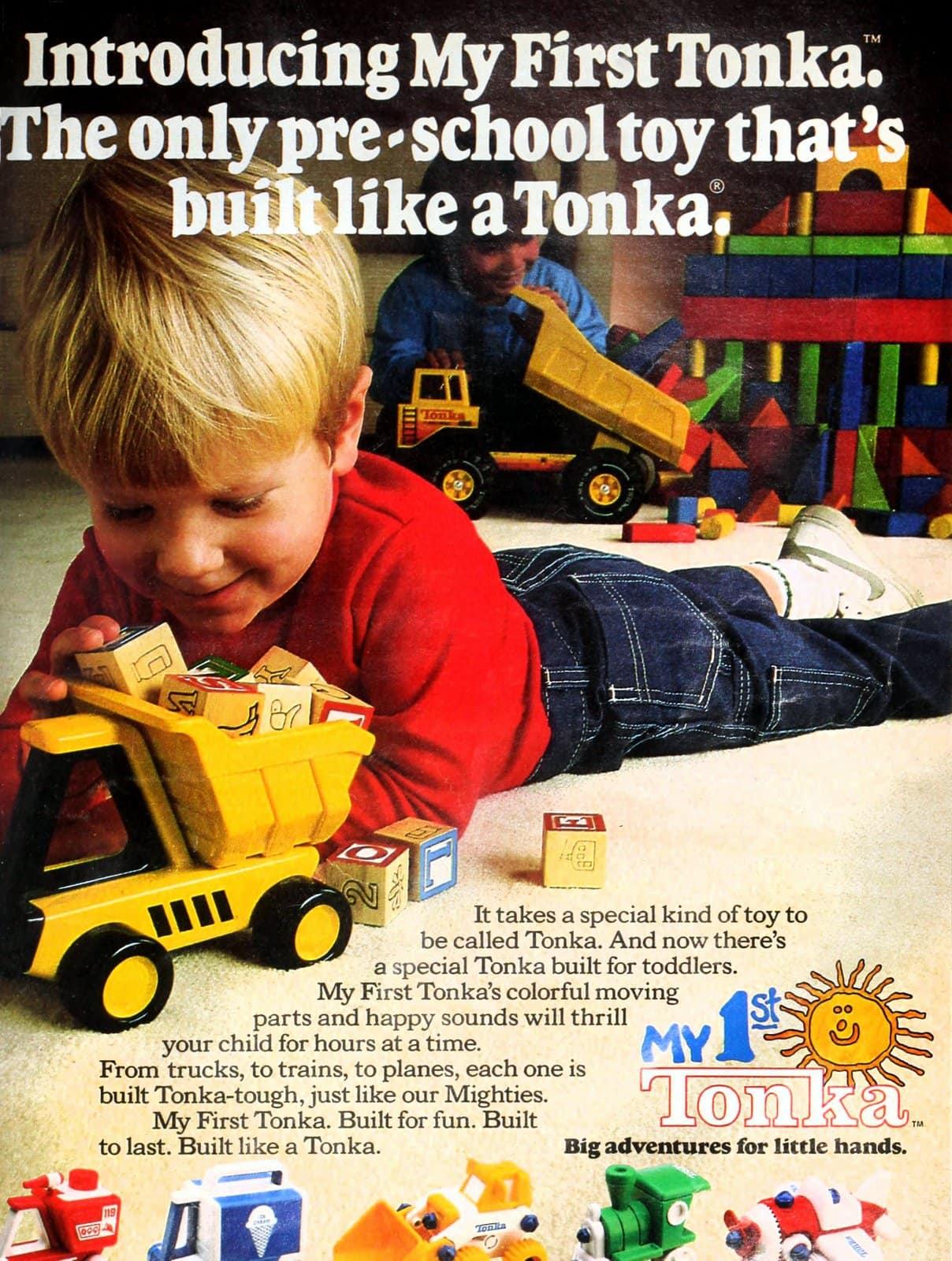 Retro My First Tonka preschool toys (1987)