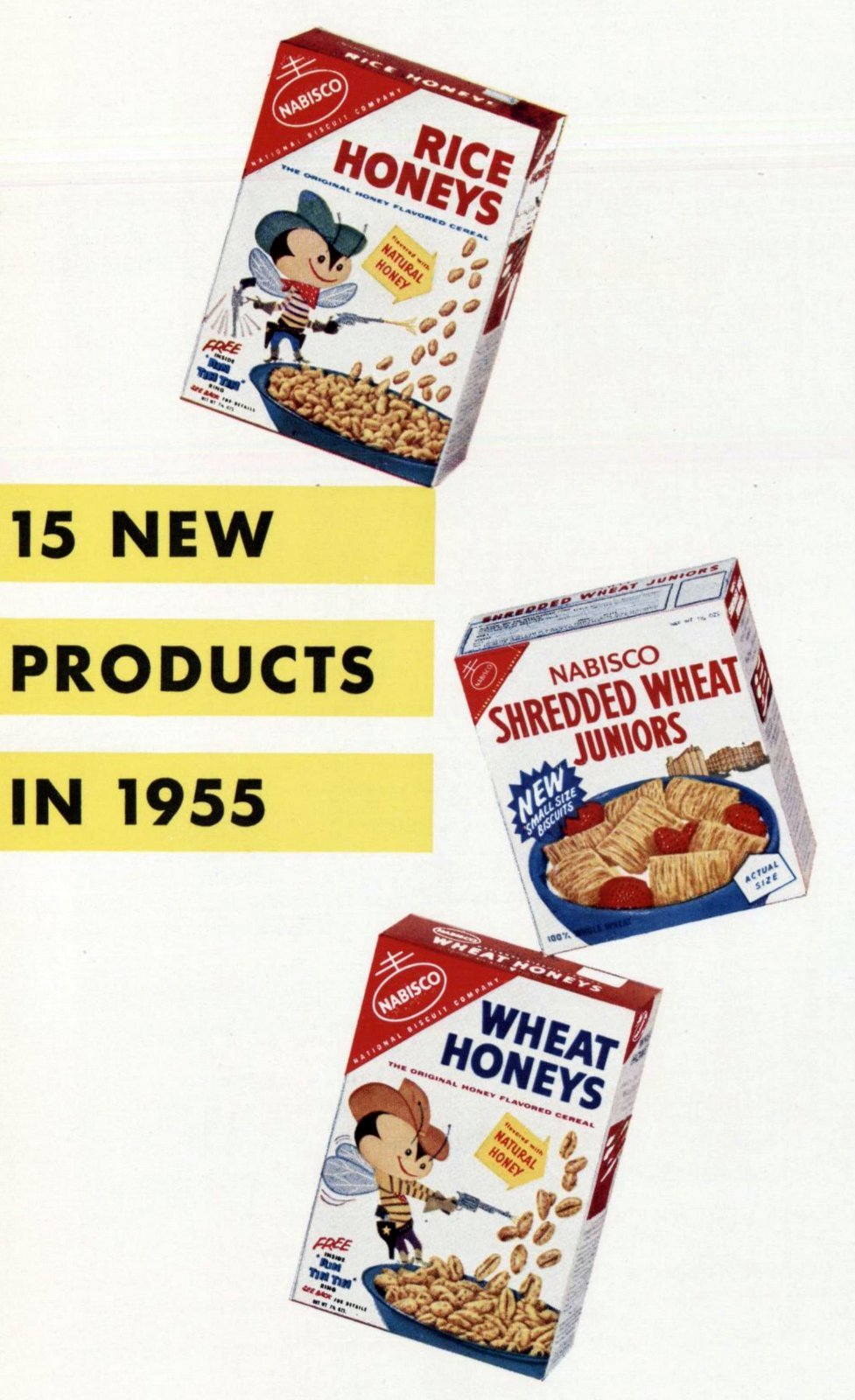 Retro Nabisco cereals - Wheat and rice (1955)