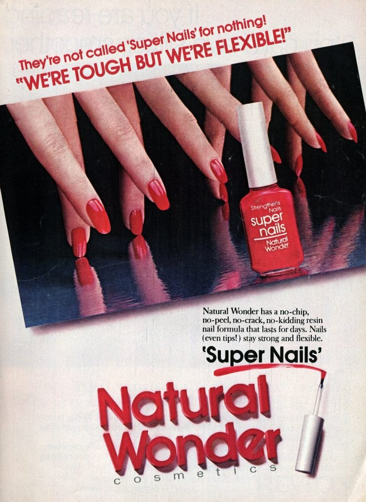 Retro Natural Wonder super nails polish from 1982
