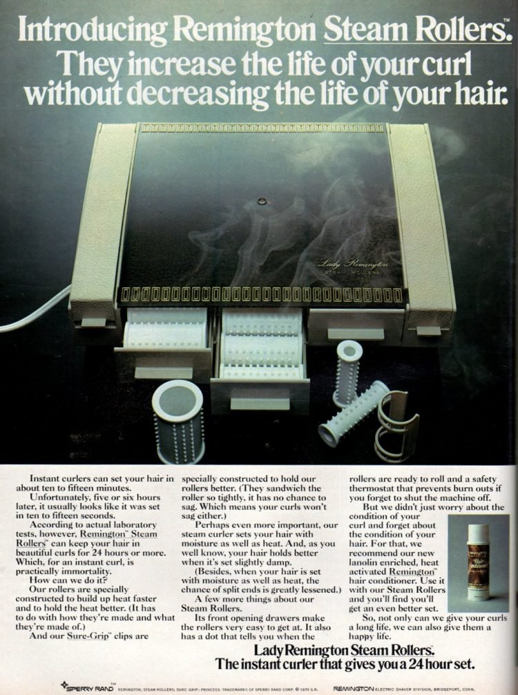 Retro Remington Steam Rollers for hair curling 1970