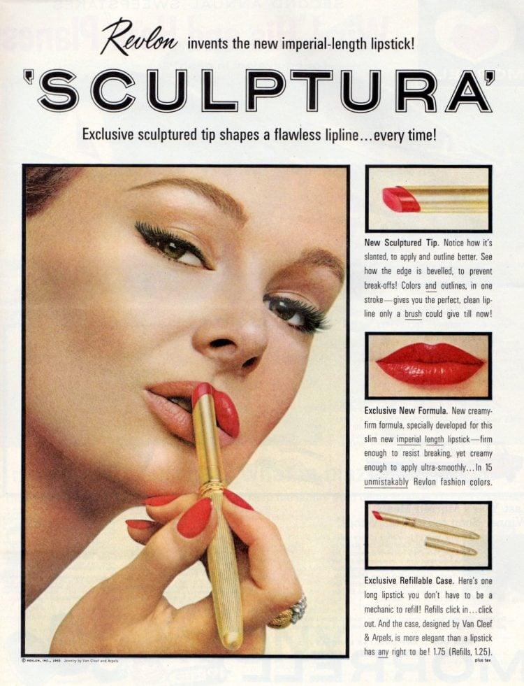 Retro Revlon Sculptura lipstick from 1963