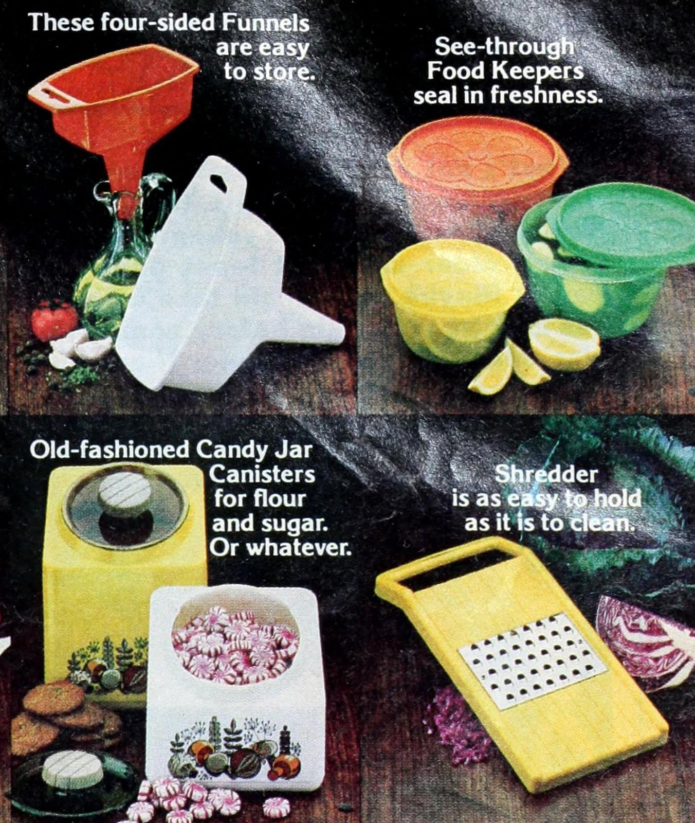 Retro Rubbermaid food storage and utensils from 1980 (3)