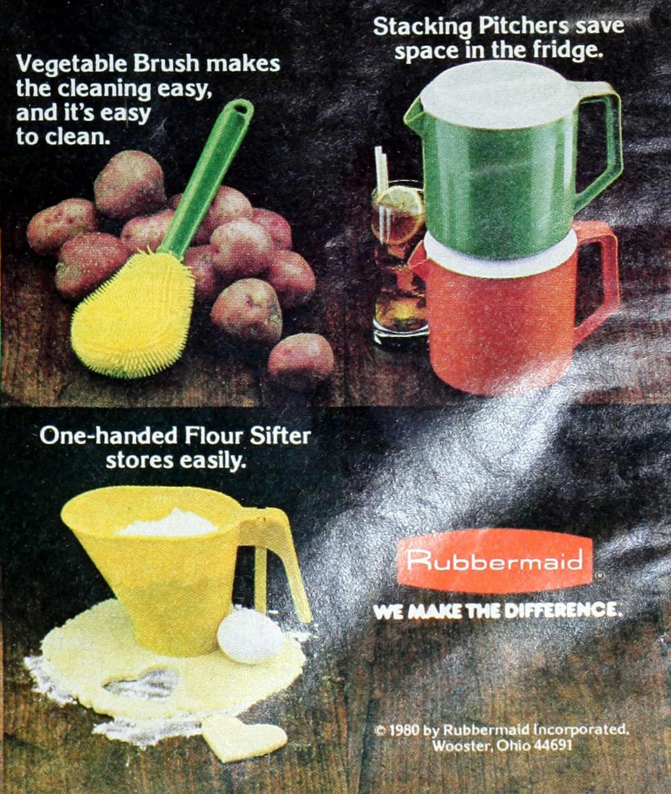 Retro Rubbermaid food storage and utensils from 1980 (4)