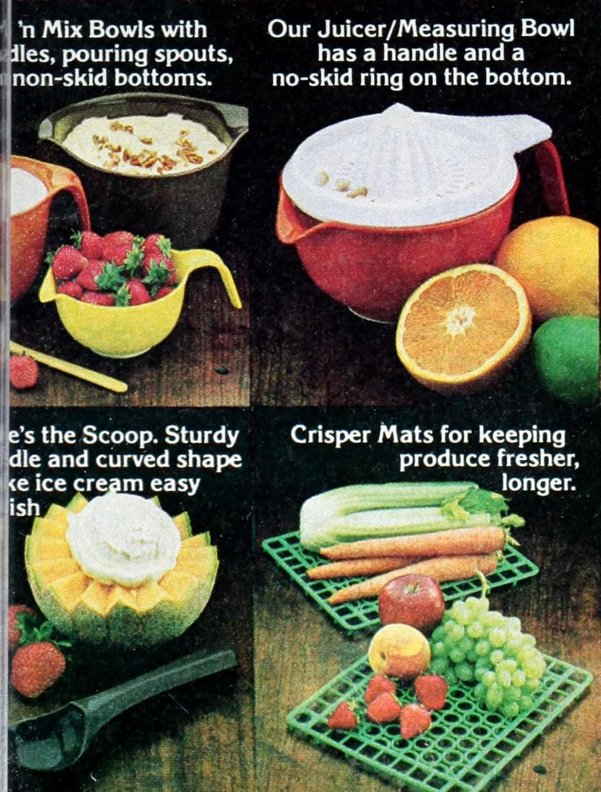 Retro Rubbermaid food storage and utensils from 1980 (5)