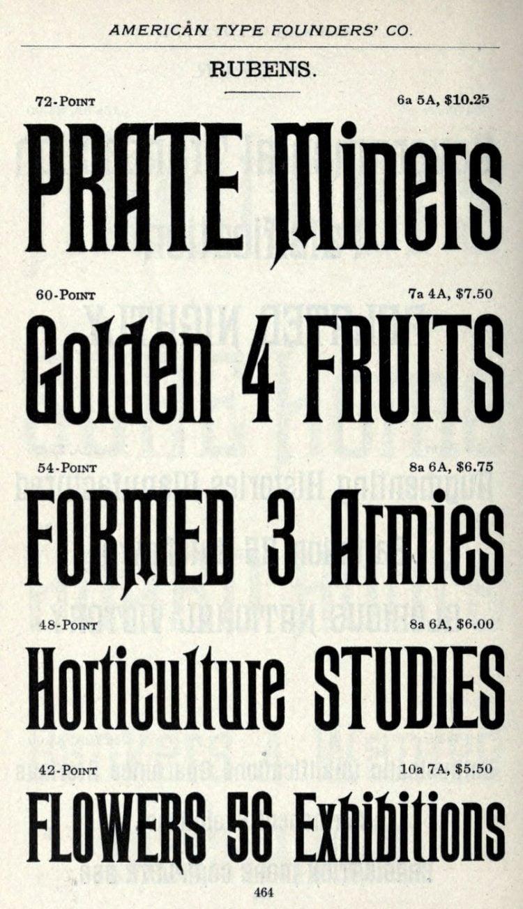 Retro Rubens typeface - Vintage font styles