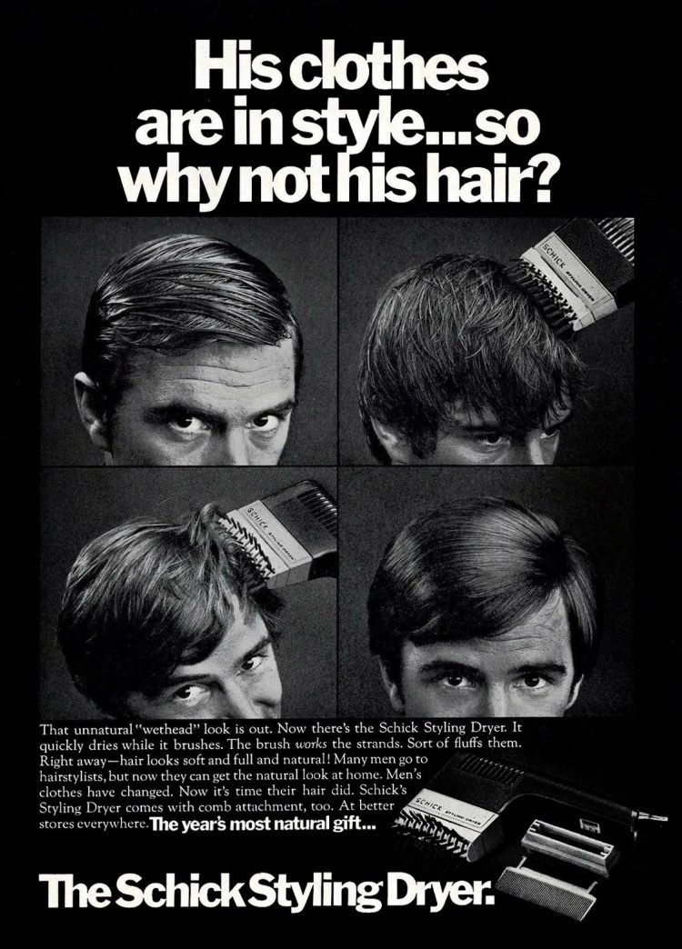 Retro Schick Styling Dryer for men from the 1970s