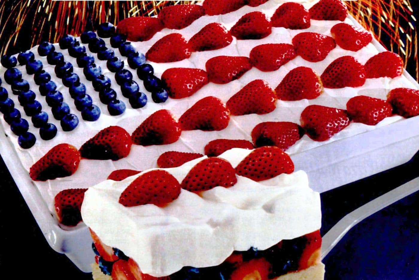 Retro Stars and Stripes Cake or Flag Cake