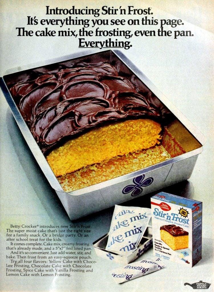 Retro Stir n Frost cake mix (1976)