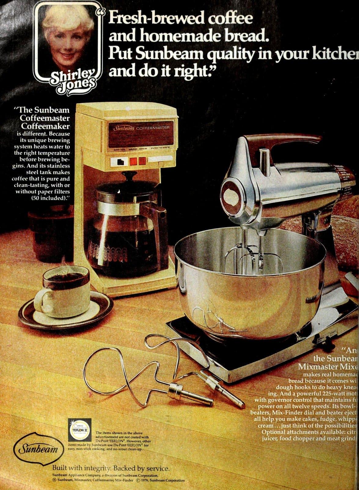 Retro Sunbeam Mixmaster mixer with wood-effect handle (1976)