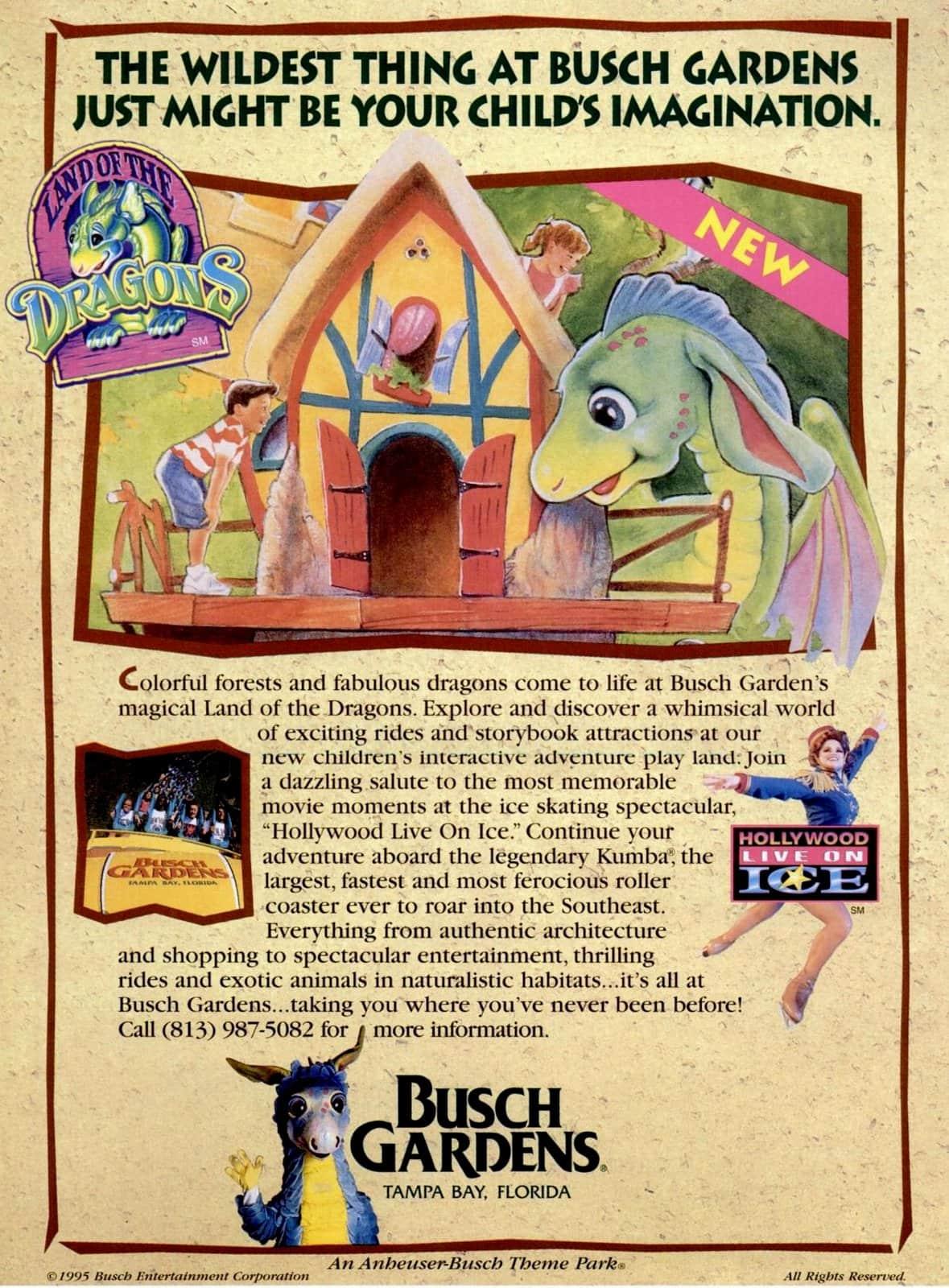 Retro Vintage Busch Gardens amusements and fun (1995)