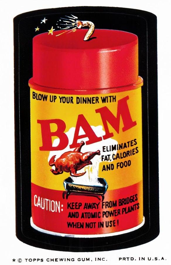 Retro Wacky Packs from the 1970s - BAM spray