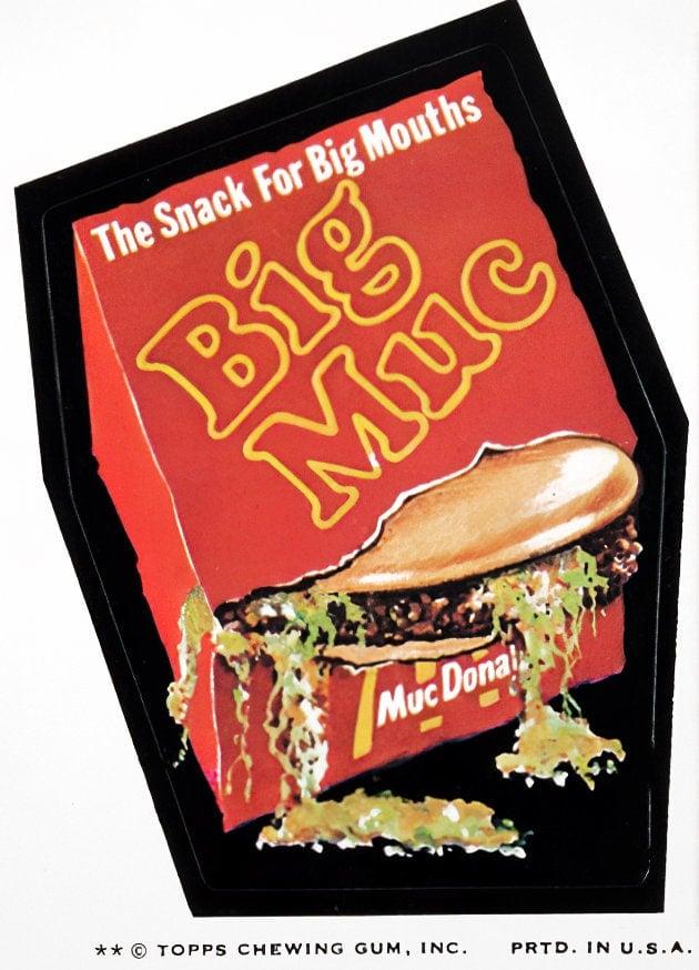 Retro Wacky Packs from the 1970s - Big Muc