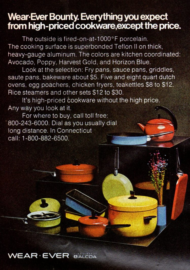 Retro Wear-Ever cookware from 1972