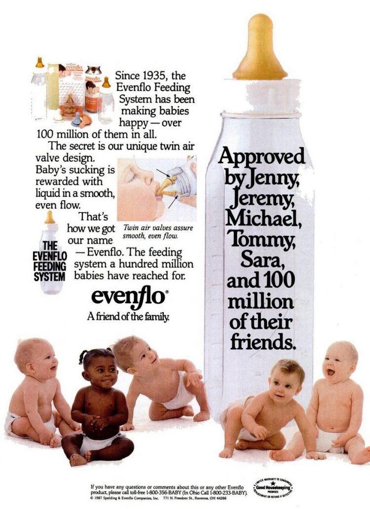 Retro baby bottles from 1987