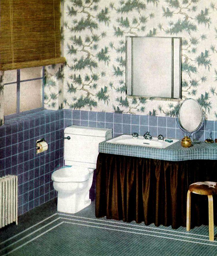 Retro bathroom decor from the 1940s (1)