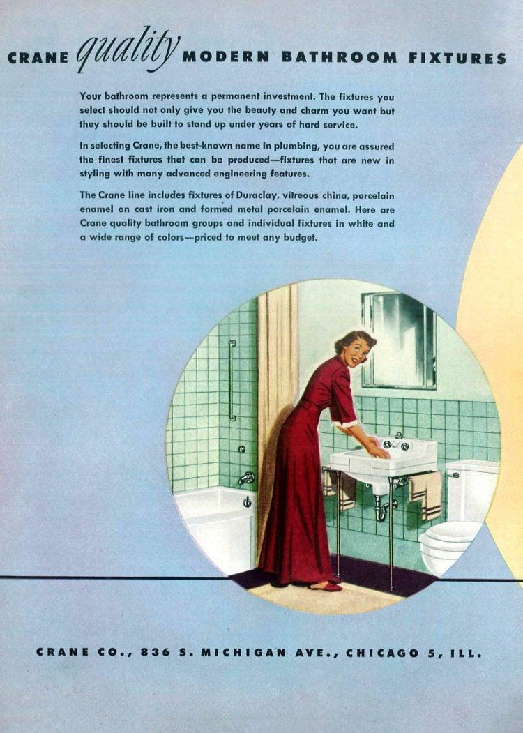 Retro bathroom decor from the 1940s (2)