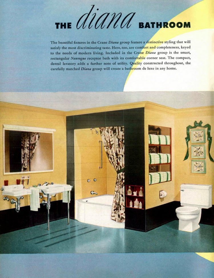 Retro bathroom decor from the 1940s (3)