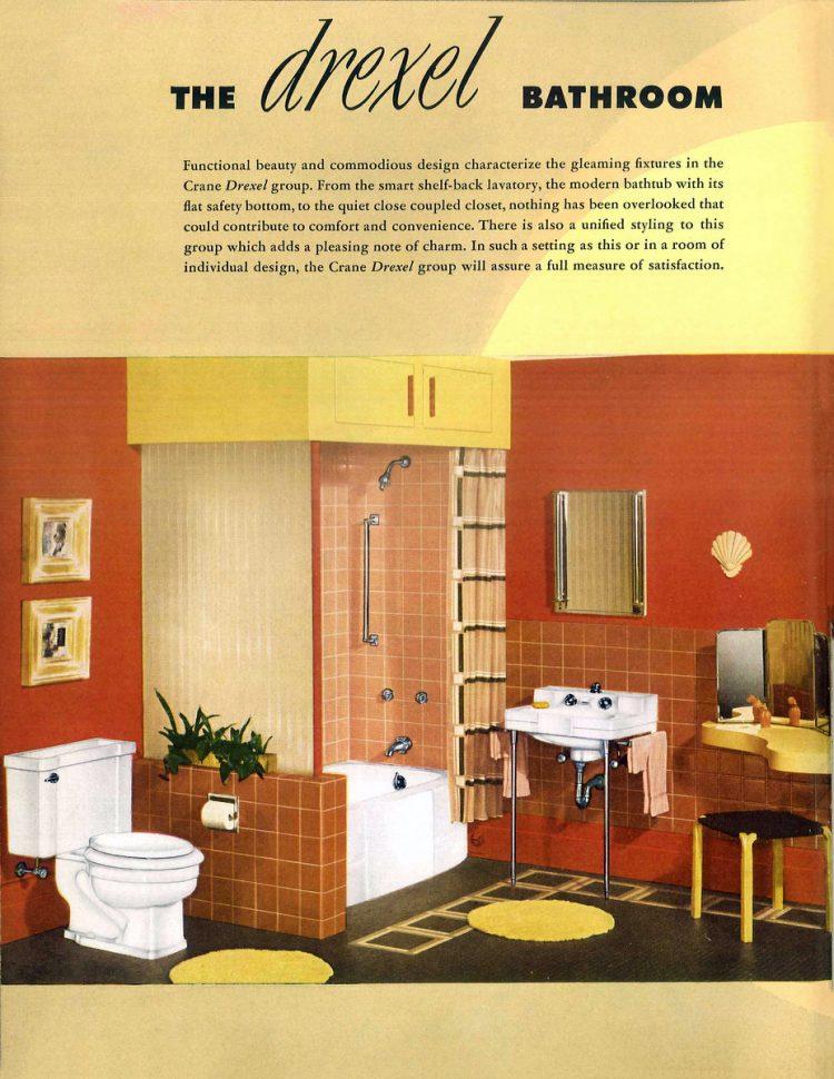 Retro bathroom decor from the 1940s (4)