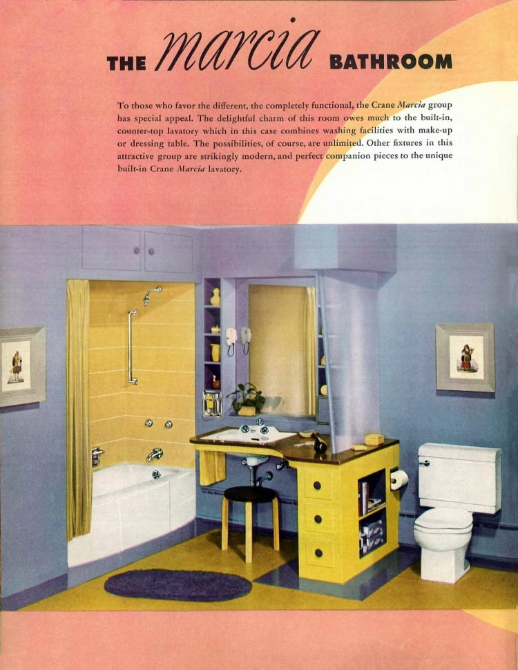 Retro bathroom decor from the 1940s (5)