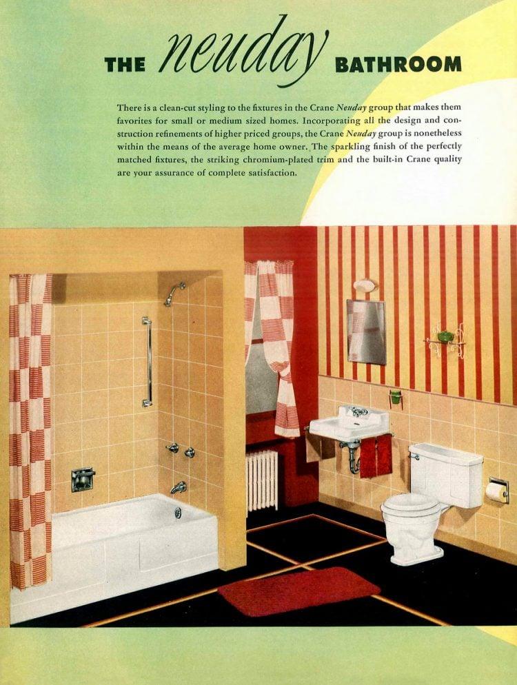 Retro bathroom decor from the 1940s (7)