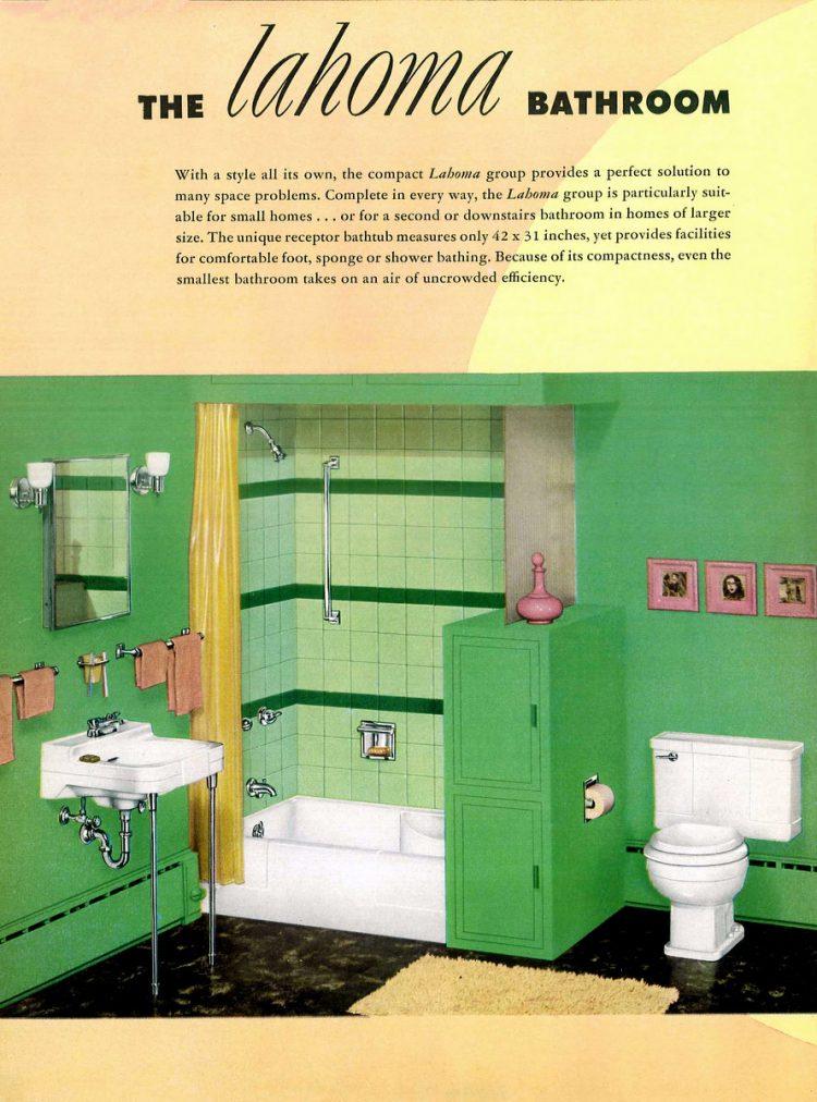 Retro bathroom decor from the 1940s (8)