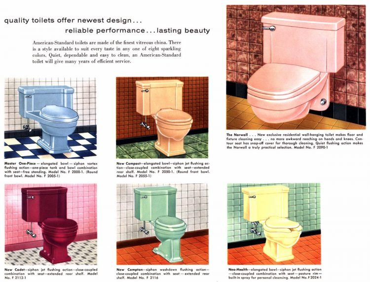 Retro bathroom fixtures American Standard 1958 (1)