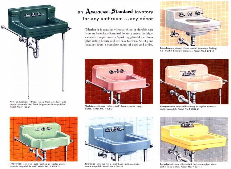 Retro bathroom fixtures American Standard 1958 (2)