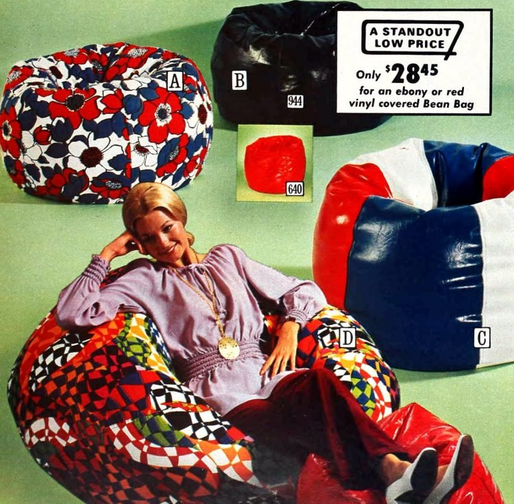 Retro beanbags for adults and kids from 1972