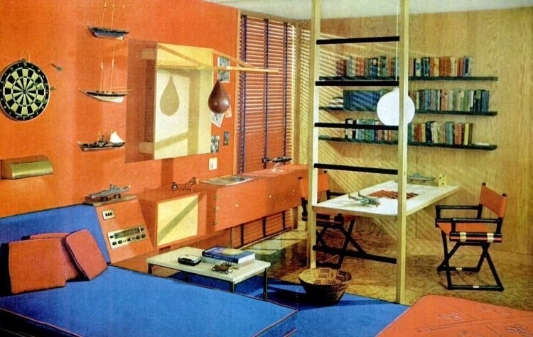 Retro bedroom style Where a boy can let off steam (1960)