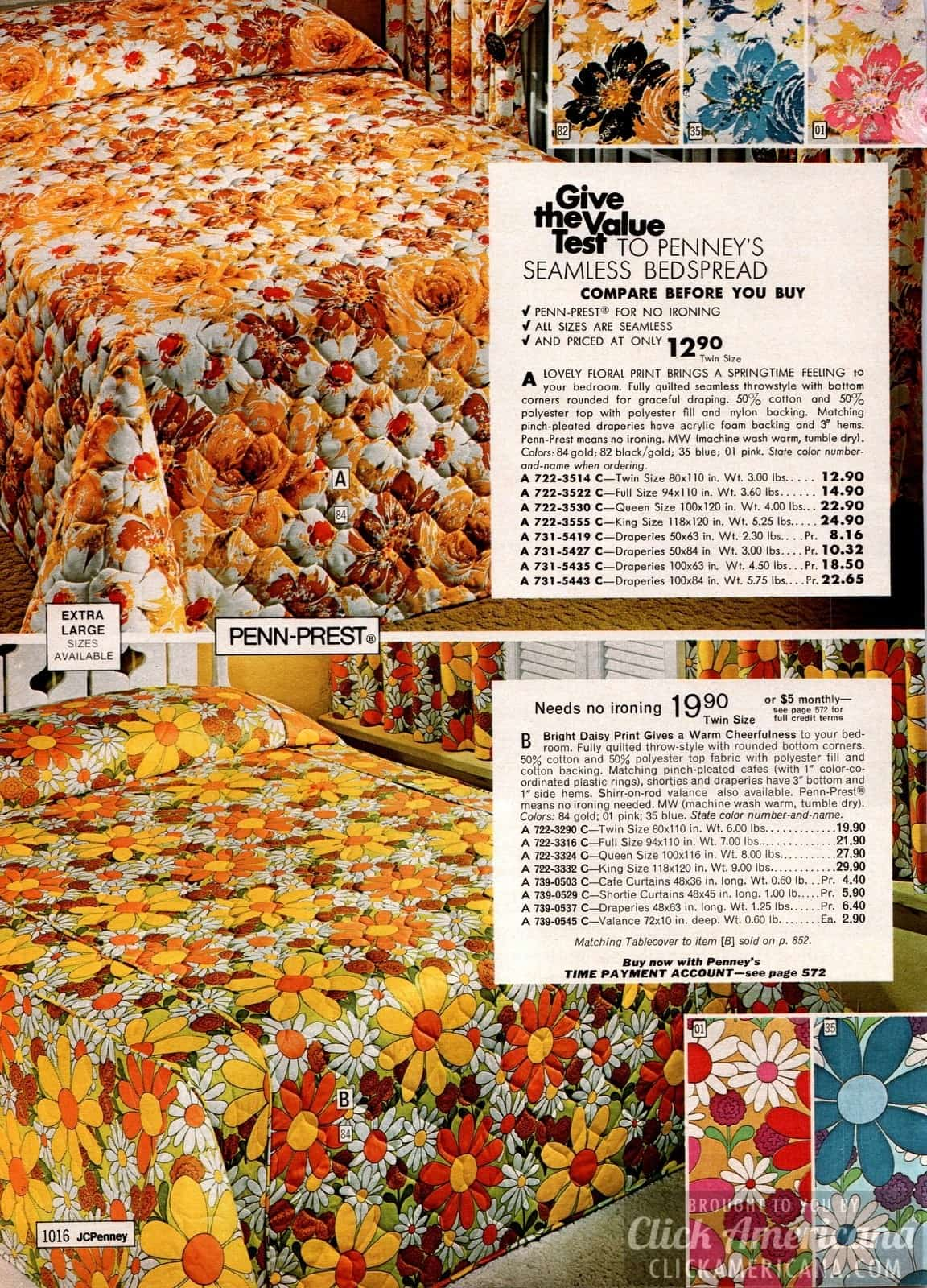 Super bold happy floral print bedspreads - daisies and springtime patterns