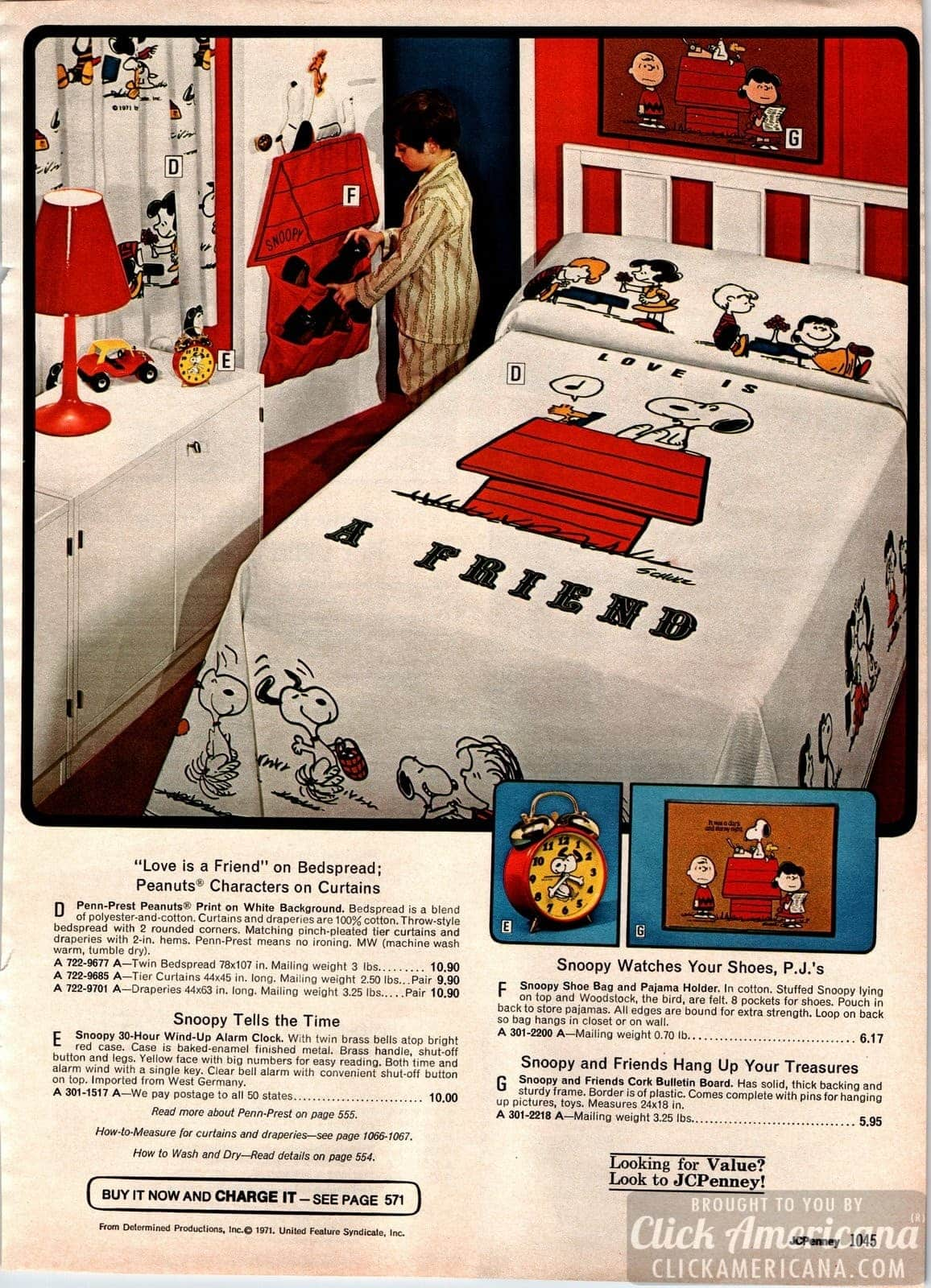 Snoopy & Peanuts 'Love is a Friend' bedspread and bedroom decor
