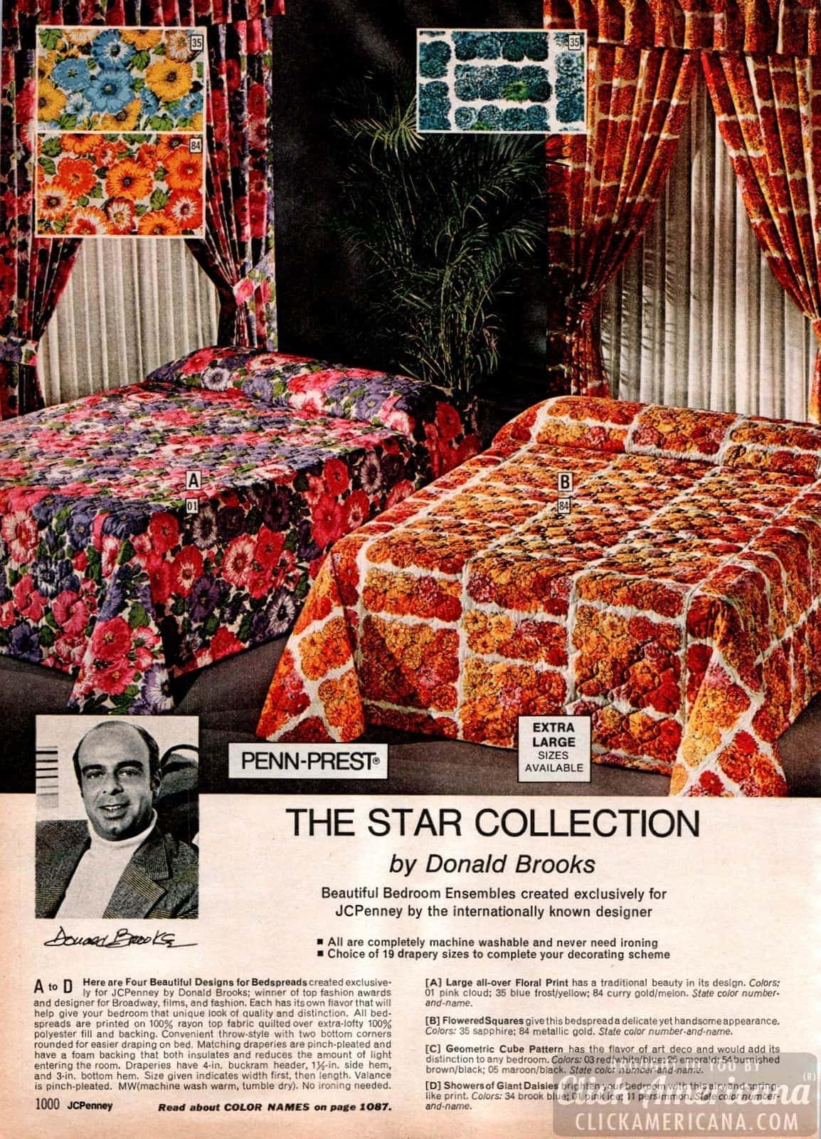 Donald Brooks designer bedding - Floral print ensembles