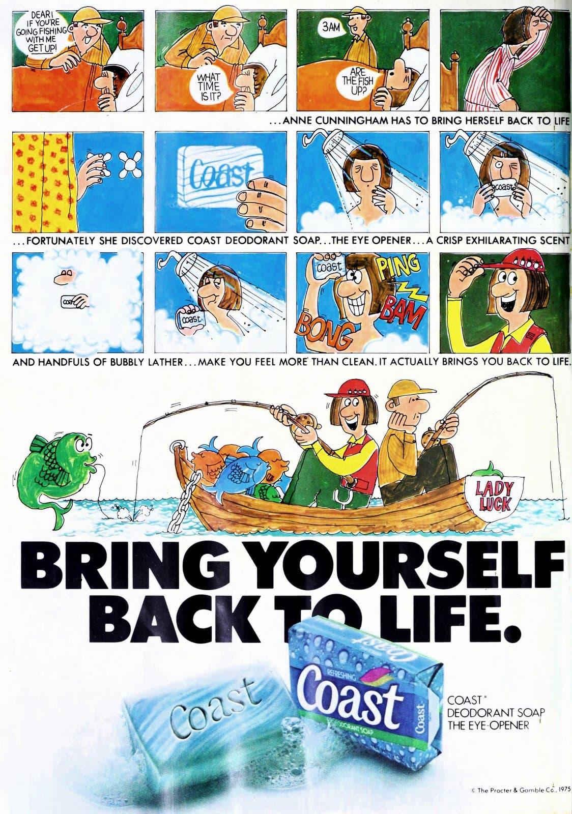 Retro blue Coast bar soap (1978)