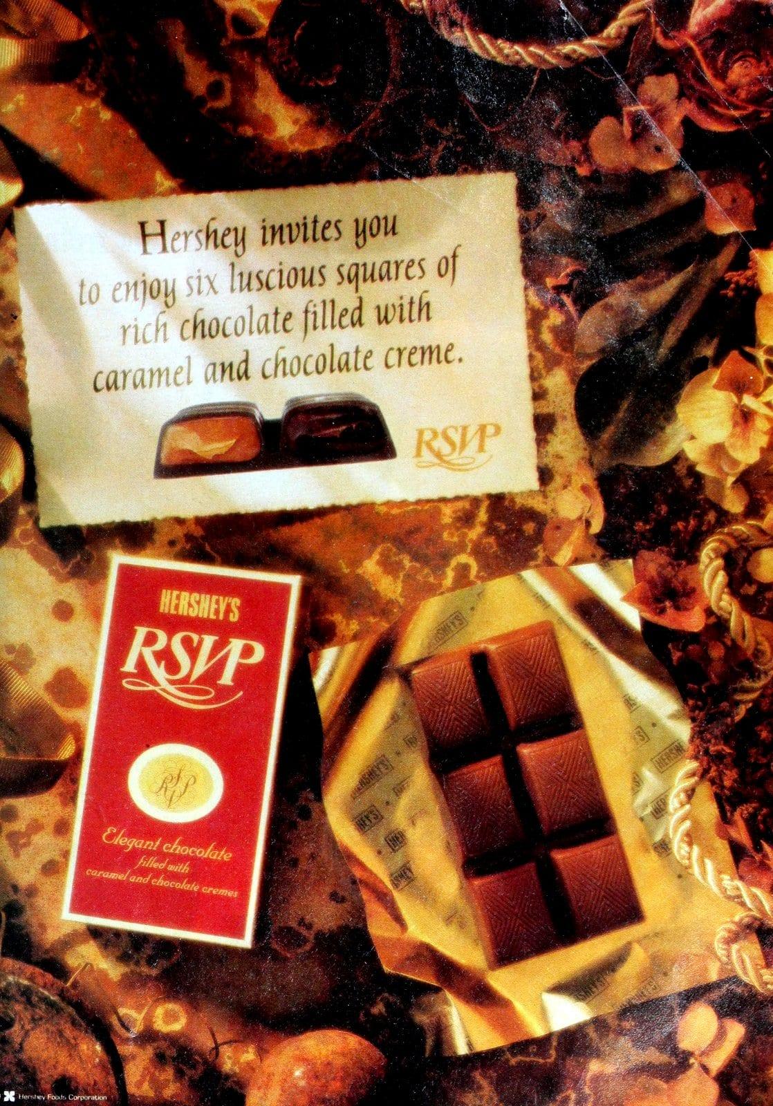 Retro candy - Hershey's RSVP chocolate squares (1990)