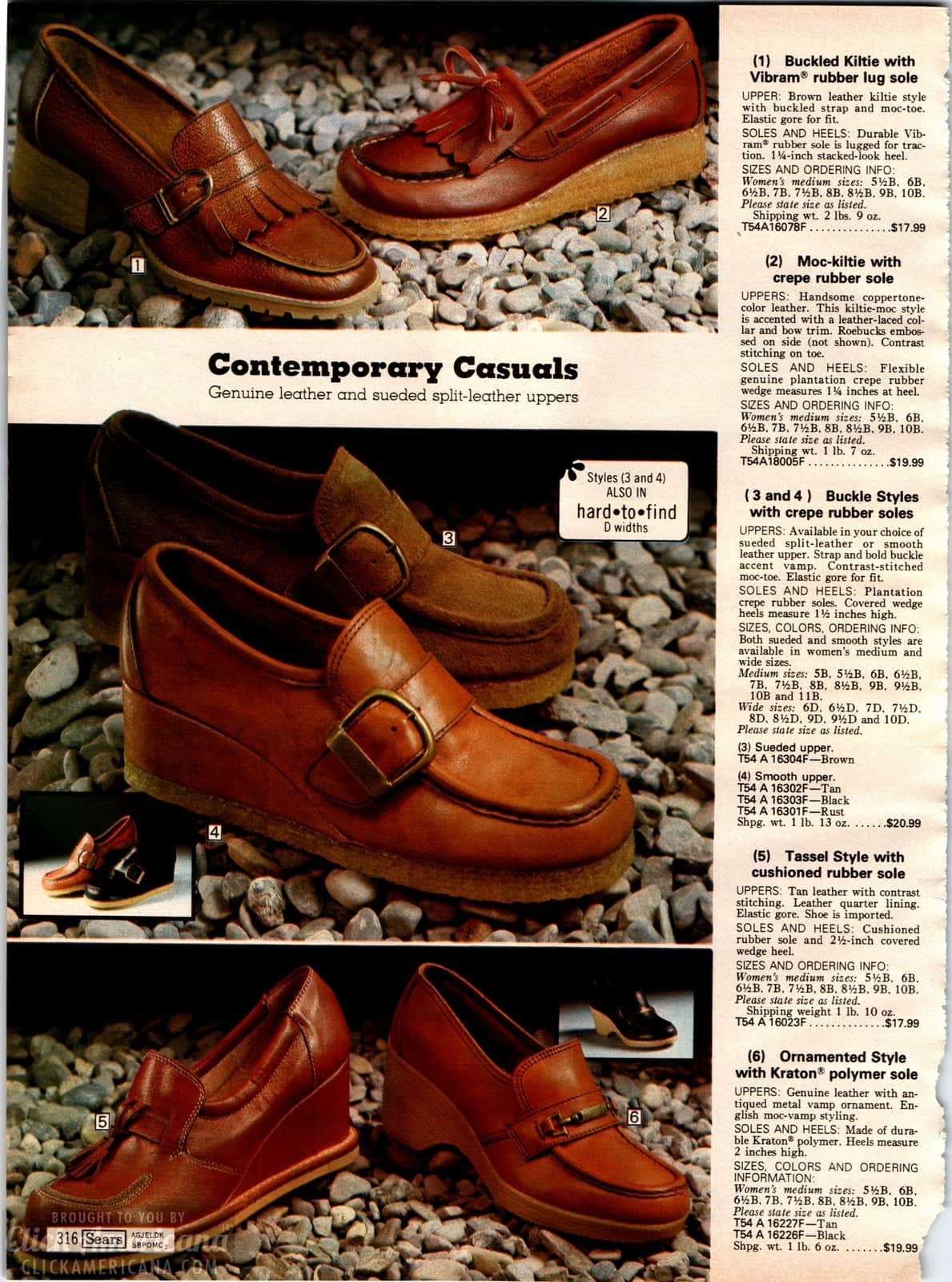 Retro casual shoes for women with brown leather uppers and rubber soles